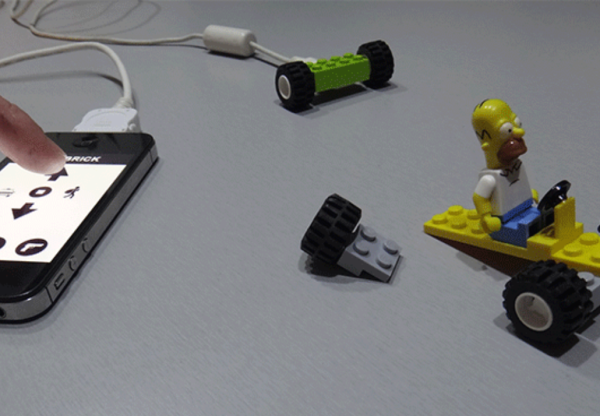 RC Brick moves building toys, couples smartphones with fun
