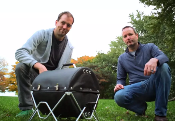GoBQ Grill uses fireproof fabric to tote grill around