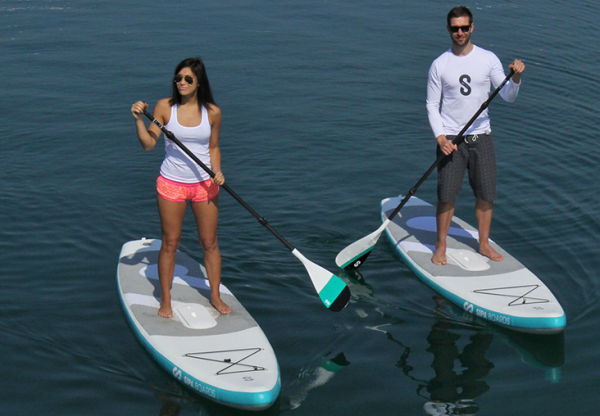Inflatable SipaBoard propels paddleboards with engines, removes remnant exertion