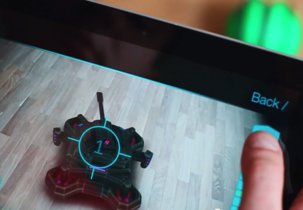 ARBot can appear as a tank or race car, makes augmented reality a ball