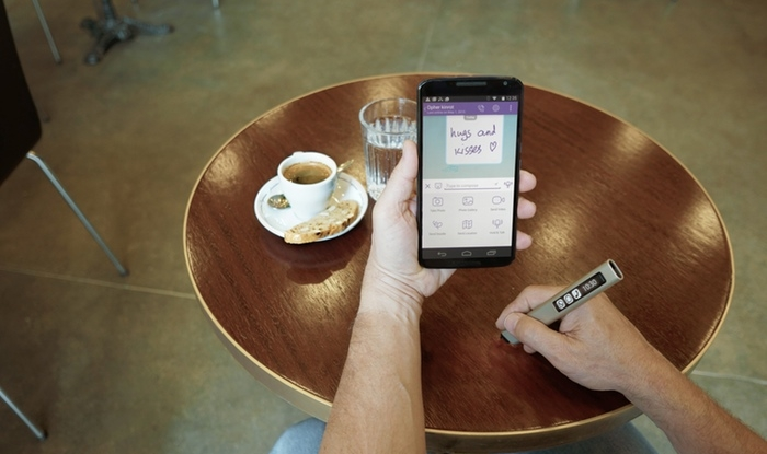 Phree lets you scribble on any surface, saves notes to your phone