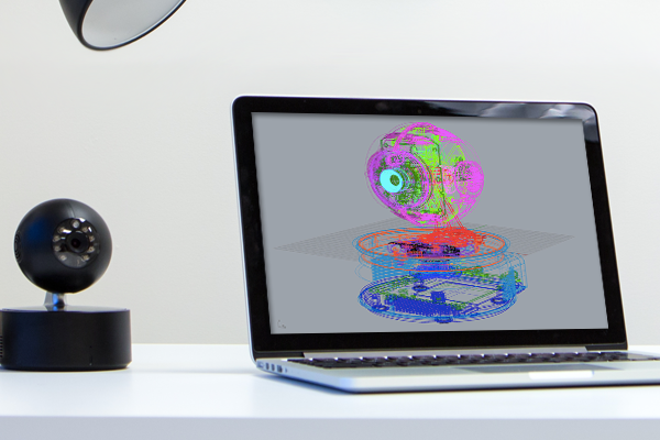 Remocam looks over a human family, controls its own device family
