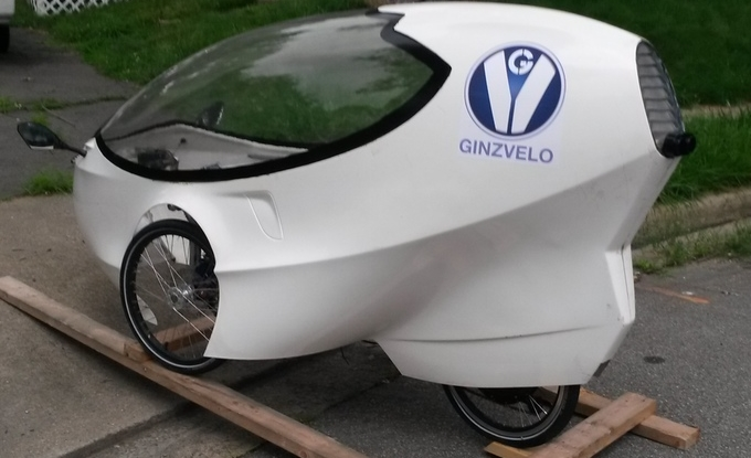 Ginzvelo pedal/electric hybrid vehicle gets you around town