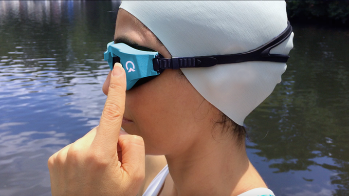 OnCourse Goggles set swimmers straight on the open seas