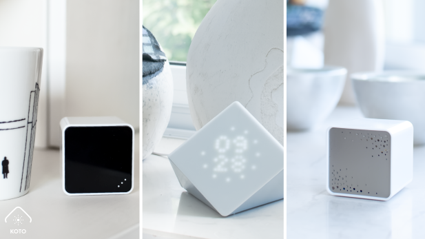 Koto trio of sensor cubes monitor your home's environent