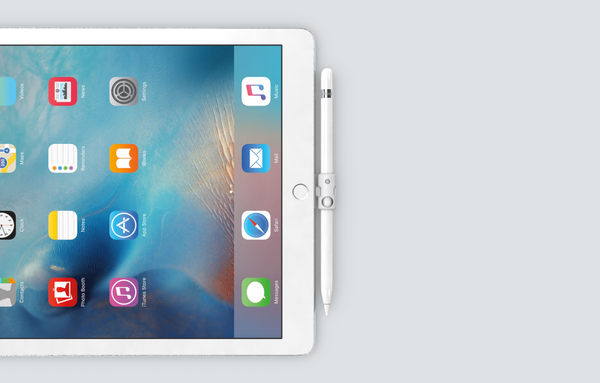 Quarter keeps the Apple Pencil right by the side of the iPad Pro