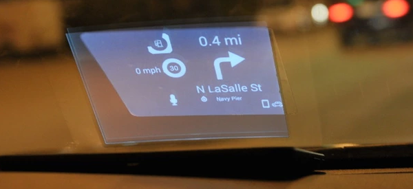 Carloudy guides your car's way with a heads-up display
