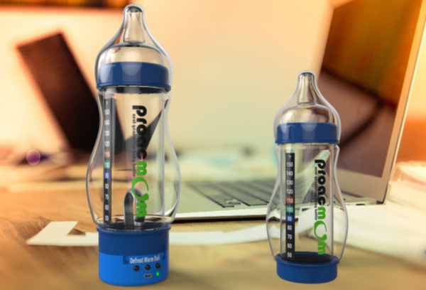 Proacmom smart baby bottle delivers push-button heating
