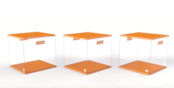QUICKCUBE combines smart design and touch of tech for more orderly stuff
