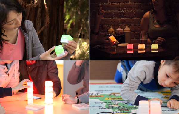 It's your very own light show with the GLOW smart cubes