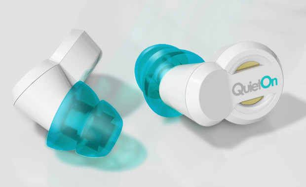 QuietOn earplugs uses noise cancellation to tune out the world