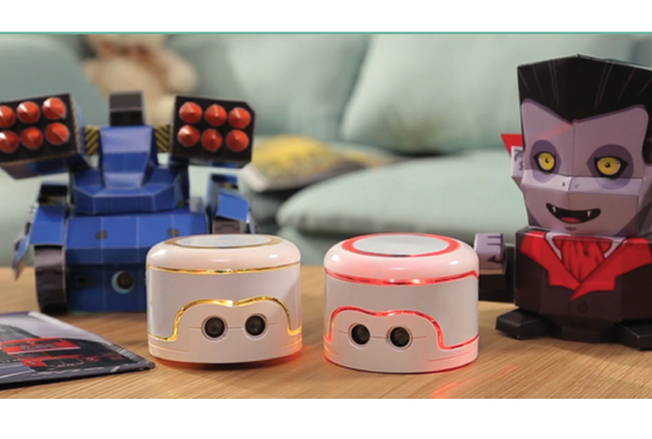 The Kamibot papercraft robot combines coloring and coding