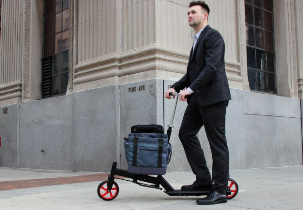The Nimble Urban Scooter carries you and your burden