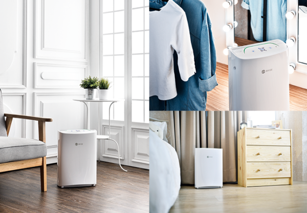 The Brise connected air purifier produces refreshing, clean breezes in the abode